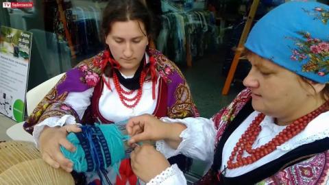 Pokaz rękodzielnictwa był częścią Festiwalu Biegowego w Krynicy