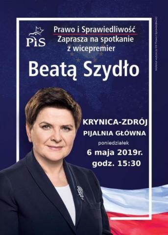 Spotkania z Beatą Szydło w Starym Sączu, krynickiej Pijalni Głównej i Lipnicy