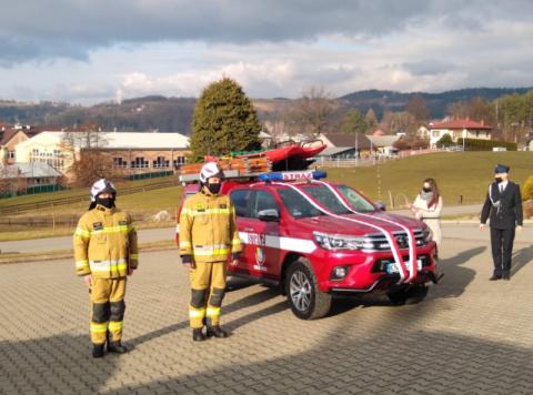 W jednostce OSP Gródek nad Dunajcem pojawił się nowy wóz ratowniczo-gaśniczy