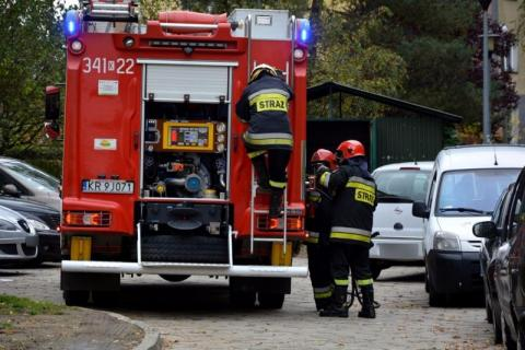 Strażacy usuwali substancję z jezdni