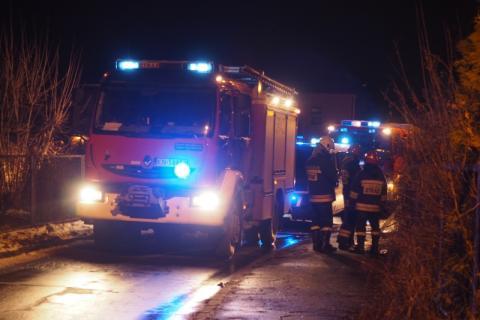 Pożar budynku w Barcicach