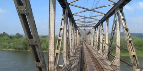 Nie wolno wchodzić na most kolejowy