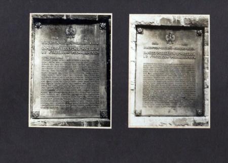 1 Pułk Strzelców Podhalańskich: repliki tablic w miejscu zaginionych oryginałów