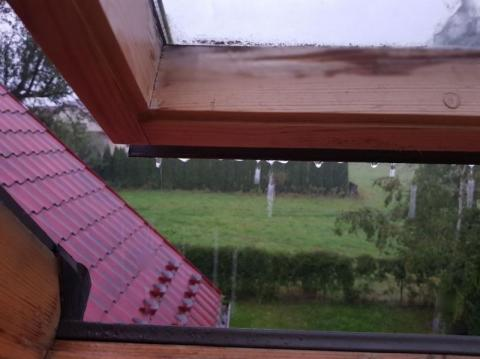 Zagrzmiało i lało jak z cebra. Niedzielny poranek w Nowym Sączu [WIDEO]