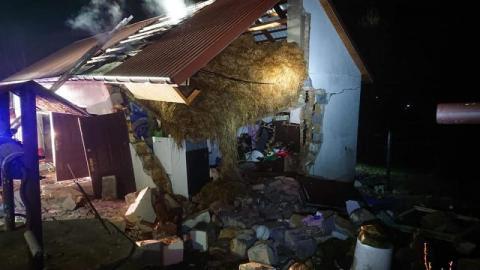 Wybuch gazu w Krygu. W budynku były dwie osoby [ZDJĘCIA]