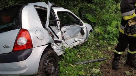 wypadek w Librantowej. Fot. PSP Nowy Sącz