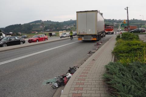 Kolejny wypadek, tym razem w Łososinie Dolnej. Jedna osoba trafiła do szpitala