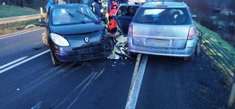 W Mszalnicy zderzyły się cztery auta. Dwie osoby zabrane do szpitala