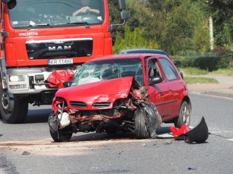 Z ostatniej chwili: wypadek na drodze krajowej w Nawojowej. Są ranni [ZDJĘCIA]