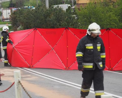 Tragedia na drodze w gminie Biecz. Zginął motocyklista