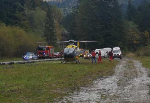 Wypadek podczas zawodów w Wierchomli Małej. Po rannego przyleciał śmigłowiec