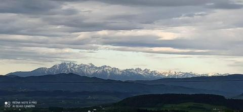 Tatry widziane z Chochorowic i Wysokiego. Wyglądają pięknie! [ZDJĘCIA]