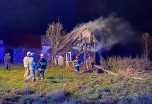 Tragiczna śmierć w płomieniach w Maciejowej. Strażacy znaleźli zwęglone zwłoki