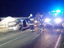 Dramatyczny wypadek koło Limanowej. Samochód osobowy zderzył się z ciężarówką