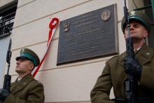 Pogranicznicy oddali hołd marszałkowi Piłsudskiemu. Odsłonili pamiątkową tablicę
