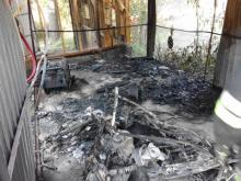 W Wojnarowej płonęły garaże. Ranny 17-latek trafił do szpitala