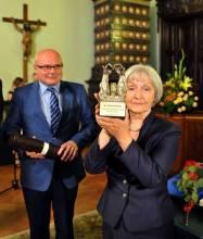 Maria Oleksy i prezydent Ryszard Nowak