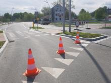 Ulica Bulwar Narwiku zamknięta dla ruchu, fot. Iga Michalec