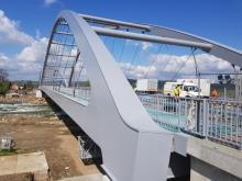 Most heleński, malują pasy, fot. Iga Michalec
