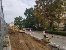 Zaczął się II etap remontu nawierzchni ulic sądeckiego rynku, fot. Iga Michalec