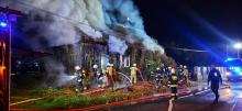 Pożar domu w Starym Sączu. Płomienie i kłęby dymu było widać z daleka [ZDJĘCIA]