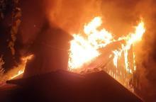 Łuna ognia nad Barcicami. Płonął budynek mieszkalny [ZDJĘCIA]