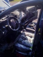 Wronowice - pożar samochodu