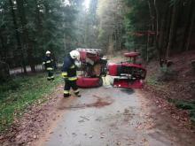 Dramatyczny wypadek w lesie. Traktor przygniótł mężczyznę