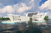 Pływające domy na wodzie