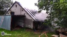 Wielki pożar w Porąbce. Spłonęła stodoła wypełniona sianem