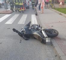I znowu w wypadku ranny motocyklista, fot. Fb/OSP Barcice