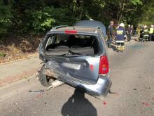 Roztrzaskane auta, pięć osób w szpitalu, bo nie trzymał odległości [ZDJĘCIA]
