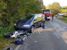Przejażdżka nastolatków motocyklem zakończyła się nieszczęściem