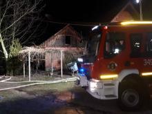 Nocna tragedia w Łososinie Dolnej. W pożarze zginęła 94-letnia kobieta [ZDJĘCIA]