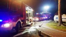 Pożar w restauracji w Zabrzeży. Z komina wydobywały się płomienie [ZDJĘCIA]