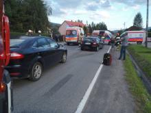 Kolizja za kolizją w Barcicach. Aż trzy osoby ranne [ZDJĘCIA]