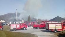 Zwierzęta spłonęły żywcem. Ponad 80 strażaków przez kilka godzin gasiło pożar