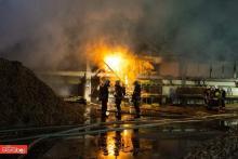 Kilkudziesięciu strażaków gasiło pożar tartaku. Straty są ogromne [ZDJĘCIA]