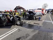 Wypadek w Łososinie Dolnej: aż 6 osób rannych, stan 35-latka jest ciężki