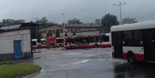 Pożar autobusu na zajezdni MPK. Trwa akcja ratunkowa