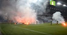 Przerwany mecz Wisła Kraków - Sandecja