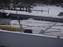 most heleński, wyburzanie podpór, fot. Iga Michalec