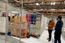 Tak się buduje covidowy szpital polowy dla Małopolski w hali Expo