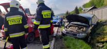 W Ujanowicach zderzyły się dwa samochody. Poszkodowanych zostało pięć osób