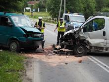 Wypadek w Łazach Biegonickich. Kierowca trafił do szpitala [FILM, ZDJĘCIA]