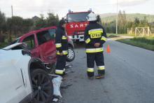 Wypadek we Florynce na trasie  do Grybowa