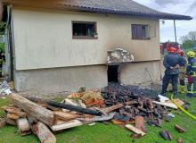 Tragedia w Ptaszkowej. W pożarze domu zginęła starsza kobieta