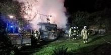 W Miliku płonął garaż. W pobliżu znajdowały się domy