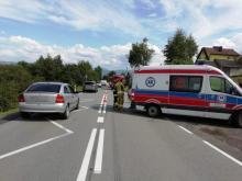 wypadek w Niskowej, fot. OSP Niskowa