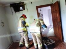 Pożar i zadymienie. Strażacy dwukrotnie interweniowali w Łazach Biegonickich